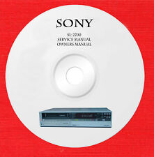 Sony SL-2700 Repair Service manual on 1 CD in pdf format