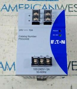 EATON PSG240E 240W 1 PHASE POWER SUPPLY 100-240V~5A OUTPUT 24V-10A NEW