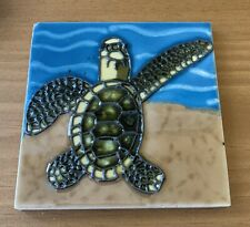 Green Turtle  Decorative Wall Art Ceramic Tile 4x4