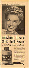 1945-Calox Tooth Powder`Veronica Lake`Actress, Sexy-Vintage Ad
