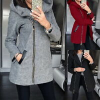 Womens Thicken Warm Coat Hooded Jacket Winter Zipper Parka Outwear Overcoat