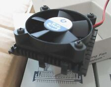 Refrigerador de la CPU Disipador térmico de ventilador 12 VDC 50mm + 55mm PPC07502B Cables PC Intel Pentium 1pc