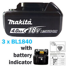 MAKITA 18V BL1840 4AH BATTERY LATEST STAR VERSION LED BATTERY INDICATOR - 3 PACK