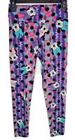 "LuLaRoe One Size Leggings Disney Minnie Mouse 24""-32"" Waist Purple Pink NWOT"
