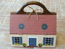 Wooden House Dollhouse Home Handmade Painted Purse Handbag
