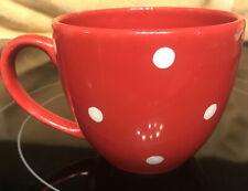 Vintage Waechtersbach West Germany Red Polka Dots Large Coffee Mug Cup Free Ship