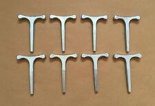 8 x clé T petit 3,5 pouces utilisés avec budget serrures horseboxes bus autocars remorque