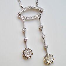 Fine Edwardian 18ct Gold Diamond (0.80ct) set Negligee Pendant Necklace c1910