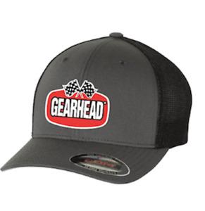GEARHEAD BRAND EMBROIDERED LOGO FLEXFIT BASEBALL CAP HAT MOTORSPORTS HOT RODS