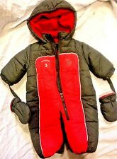 U S POLO Assn Infant Boys 12 Months Navy Snow Suit With Gloves & Hood