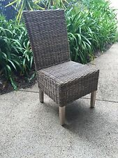 8 x Rattan dining chairs