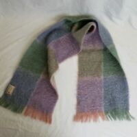 Vintage Beautiful Mohair Wool Scarf By Andrew Stewart Made In Scotland