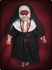 Eye Mouth Vampire Nun w/ Blood Creepy Horror Doll by Bastet Christie Creepydolls