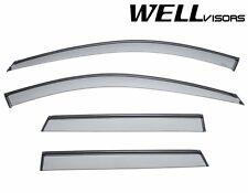 For 06-13 Audi A3 WellVisors Side Vent Window Defectors Visors W/ Black Trim