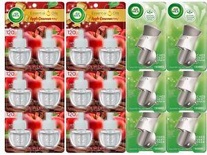 Air Wick, Plug in Scented Oil, Apple Cinnamon Medley 12 Refills + 6 Warmers