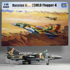 TRUMPETER 1/48 RUSSIAN MIG-23MLD FLOGGER-K SWEPT-WING INTERCEPTOR KIT