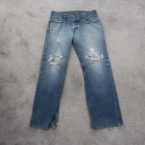 Old Navy Bootcut Denim Jeans Men's 32x32 Regular Fit Distressed