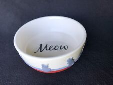 Wisker City Meow Cat Food Water Bowl Adorable for your cherished Kitty