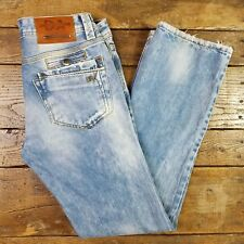 Daniele Alessandrini Distressed Blue Jeans Italy Size 34 X 34 Destroyed Denim K2