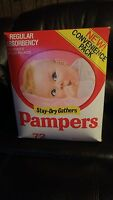 1981 Vintage Rare Pampers Plastic Backed Diapers