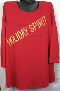 NWT Cacique Sleep Lane Bryant Holiday Christmas Plus Size Night Shirt