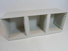 Alpha Off White Cream CD Storage Rack Holds 36 CDs Can be Wall Mounted vtg