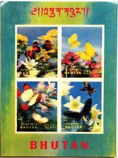 BHUTAN 1968 Block 13 S/S 954 Schmetterlinge Fauna Insekten 3D Butterflies MNH