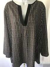 Wet Seal + Black White Gray Blouse Top Women's Plus 3x