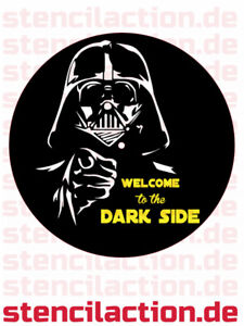 "Deko-LP - Star Wars ""Welcome to the Dark Side"" - Wandbild Darth Vader"