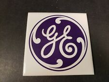 "Vintage General Electric Ceramic Tile Coasters DK Japan 4 1/4"" x 4 1/4"" GE Logo"