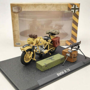 1:24 BMW R75 World War II 1939-1945 Motorcycle Yellow Diecast Model Collection