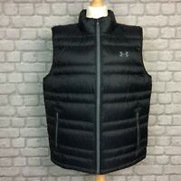 UNDER ARMOUR MENS BLACK ARMOUR DOWN VEST GILET BODYWARMER WINTER RRP £105 AD