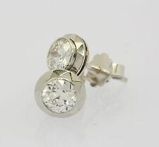 Solitär Ohrstecker Ohrringe in 585er 14 kt Weiß Gold mit Diamant Brillant 1,6 ct