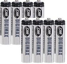 8 x AAA 750 MAH DIGIMAX RECHARGEABLE BATTERIES + CASES
