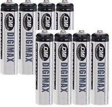 8 x Pilas Aaa 750 Mah Digimax Baterías Recargables + casos