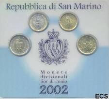San marino 2002 offiz. MINIKIT-Coincard 10 et 20 cents + 1 et 2 EURO BU/BFR.