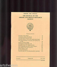 OMRS  vol 26  # 2  1987  Journal Orders & Medals Research Society  UK MEDAL MAGZ