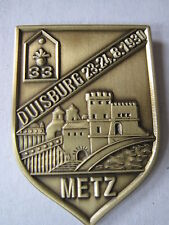 Pin Duisburg Metz 23 24.08.1930 II GUERRA MUNDIAL WK2 WK1 WH Ejército