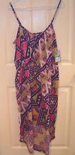 Womens Plus~IN The MIX~PURPLE MAXI Asymmetrical DRESS~size 2X~NWT~Pink Knit SUN