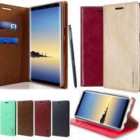 For Samsung Galaxy S10 Note 9 Leather wallet Card Holder Flip Stand Case Cover
