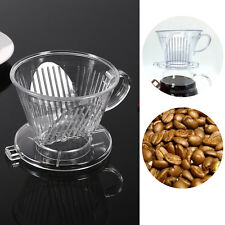 Coffee Maker Filter Cone Dripper Cups Pour Over Serving Mug Transparent Reusable