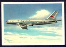AEROFLOT Soviet Airlines Tupolev TU-104B Postcard