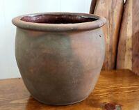 "Antique Pennsylvania 7"" Redware Pottery Crock"
