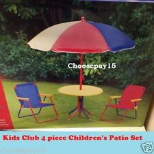 4 Piece Children's Patio Set with Compact Easy Folding Storage <FREE DELIVERY>