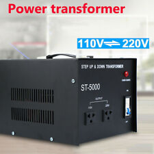 New Listing5000 Watt Voltage Converter Transformer Step Up Down Ac Heavy Duty 110V 220V