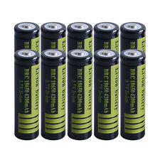 10X 4200mAh Li-ion Rechargeable Battery BRC 18650 3.7V for Flashlight torch