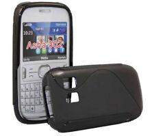 Rubber Case Wave für Nokia Asha 302 in schwarz Silikon Skin Hülle black