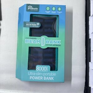 80000 mAh Portable External Solar Power Bank - Teal Green/Blue