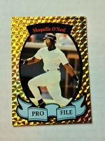 RARE! Shaquille O'Neal Pro File Baseball Promotional Card GOLD REFRACTOR Rookie