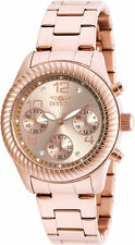Invicta Women's Angel Chronograph Rose Gold Dial Stainless Steel Watch 20267